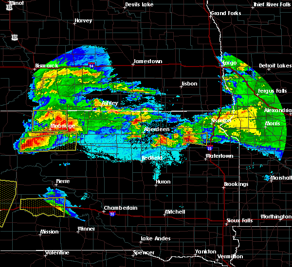 Radar Image for Severe Thunderstorms near Waubay, SD at 6/22/2015 1:50 AM CDT