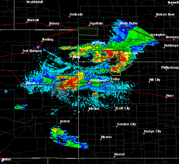 Radar Image for Severe Thunderstorms near Oberlin, KS at 8/13/2019 4:37 PM CDT
