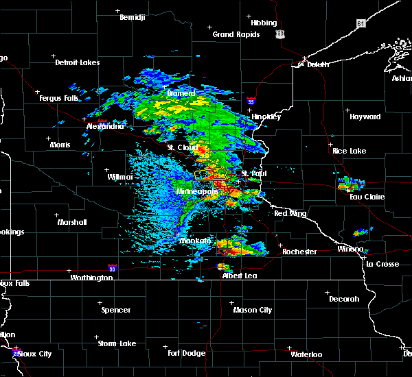 Radar Image for Severe Thunderstorms near Blooming Prairie, MN at 8/13/2019 4:46 PM CDT