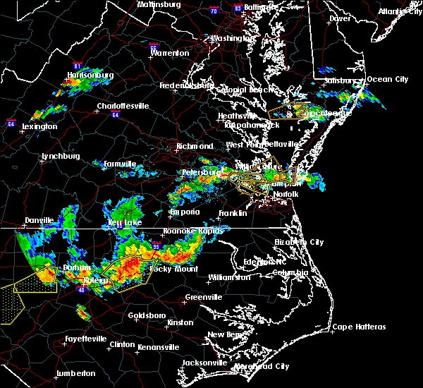 Radar Image for Severe Thunderstorms near Newport News, VA at 8/13/2019 5:58 PM EDT