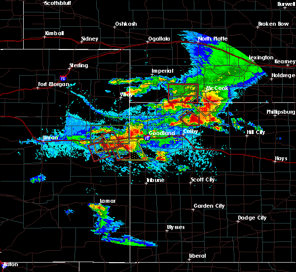 Radar Image for Severe Thunderstorms near Oberlin, KS at 8/13/2019 5:03 PM CDT