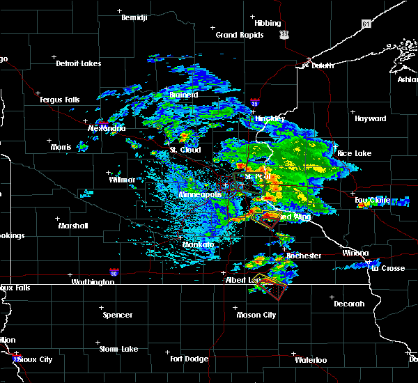Radar Image for Severe Thunderstorms near Red Wing, MN at 8/13/2019 5:55 PM CDT