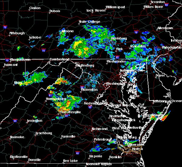 Radar Image for Severe Thunderstorms near Piney Mountain, VA at 8/13/2019 7:11 PM EDT