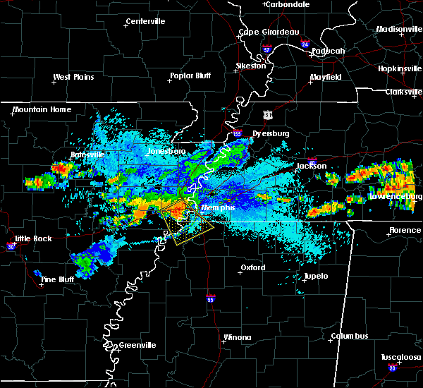 Radar Image for Severe Thunderstorms near West Memphis, AR at 8/13/2019 7:16 PM CDT