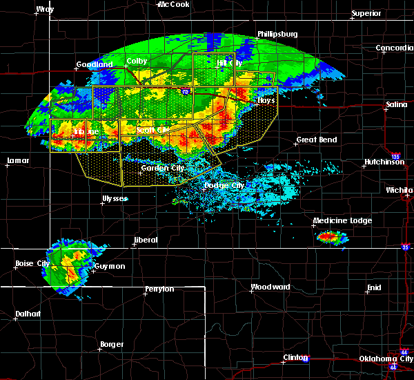 Radar Image for Severe Thunderstorms near Jetmore, KS at 8/13/2019 7:32 PM CDT