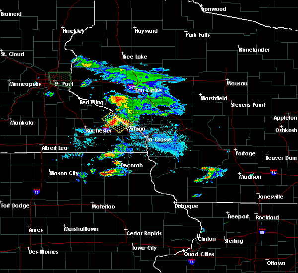 Radar Image for Severe Thunderstorms near Goodview, MN at 8/13/2019 8:10 PM CDT