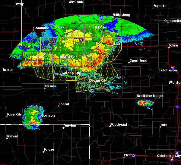 Radar Image for Severe Thunderstorms near Albert, KS at 8/13/2019 8:20 PM CDT