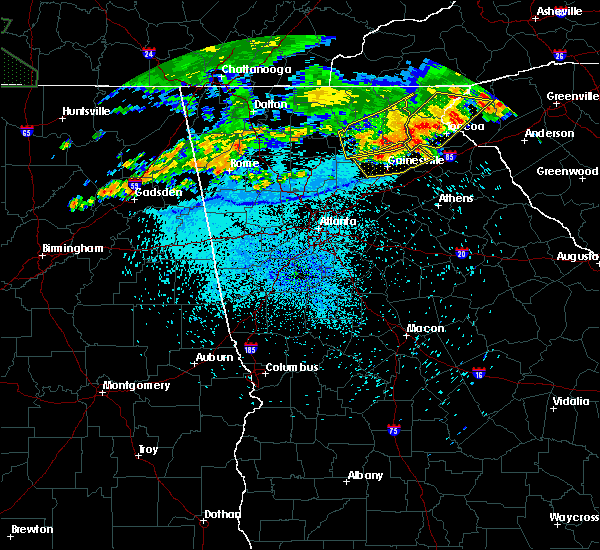 Radar Image for Severe Thunderstorms near Clermont, GA at 8/13/2019 10:39 PM EDT