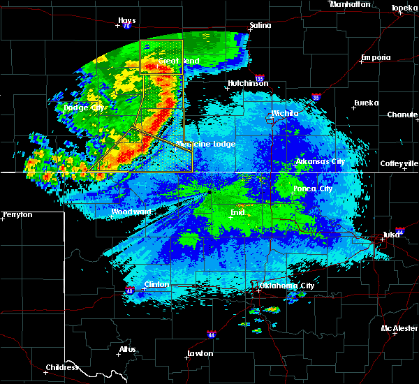 Radar Image for Severe Thunderstorms near Coldwater, KS at 8/13/2019 9:40 PM CDT
