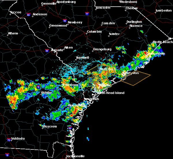 Radar Image for Severe Thunderstorms near Yemassee, SC at 8/14/2019 4:16 PM EDT