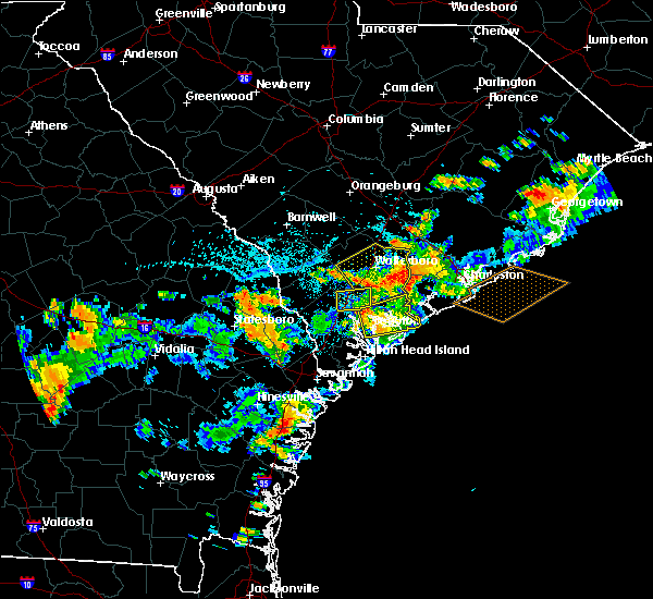 Radar Image for Severe Thunderstorms near Walterboro, SC at 8/14/2019 4:30 PM EDT