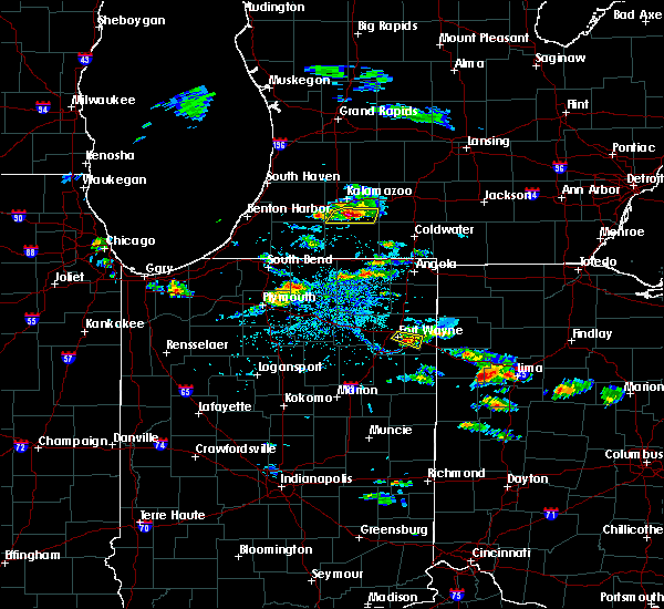Radar Image for Severe Thunderstorms near Lima, OH at 8/14/2019 4:32 PM EDT
