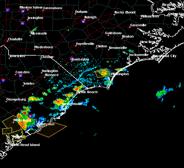 Radar Image for Severe Thunderstorms near Myrtle Beach, SC at 8/14/2019 4:34 PM EDT