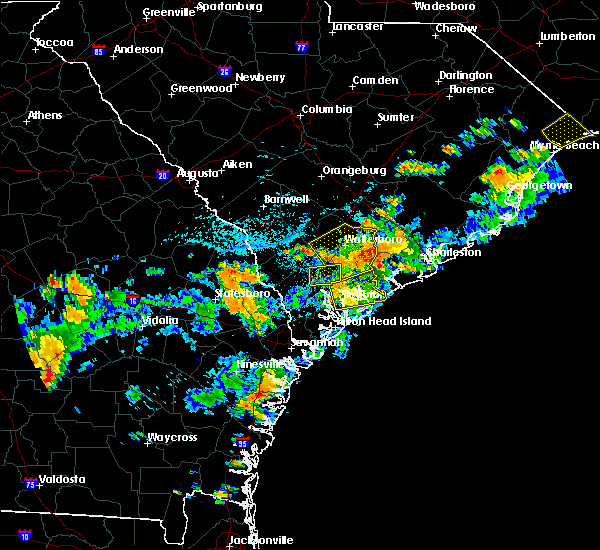 Radar Image for Severe Thunderstorms near Ravenel, SC at 8/14/2019 4:40 PM EDT