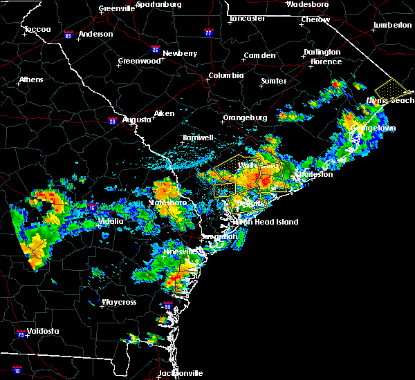 Radar Image for Severe Thunderstorms near Walterboro, SC at 8/14/2019 4:46 PM EDT