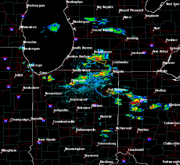 Radar Image for Severe Thunderstorms near Vicksburg, MI at 8/14/2019 4:47 PM EDT