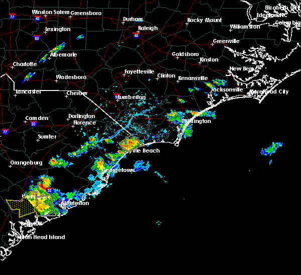 Radar Image for Severe Thunderstorms near Myrtle Beach, SC at 8/14/2019 4:51 PM EDT