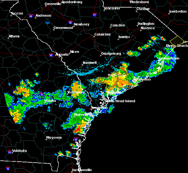 Radar Image for Severe Thunderstorms near Ravenel, SC at 8/14/2019 4:58 PM EDT