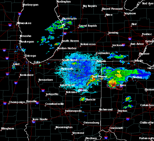 Radar Image for Severe Thunderstorms near Lima, OH at 8/14/2019 9:06 PM EDT