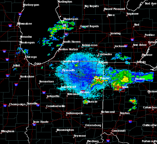 Radar Image for Severe Thunderstorms near Lima, OH at 8/14/2019 9:25 PM EDT