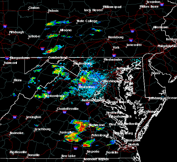 Radar Image for Severe Thunderstorms near Chantilly, VA at 8/15/2019 2:42 PM EDT