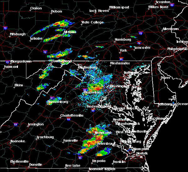Radar Image for Severe Thunderstorms near Fairfax, VA at 8/15/2019 3:53 PM EDT