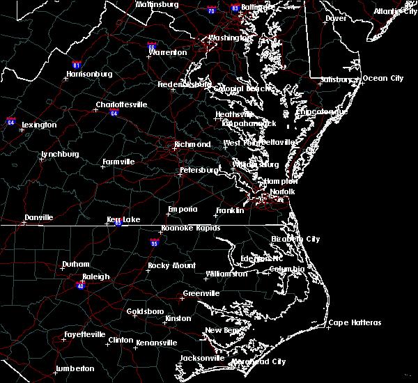 Radar Image for Severe Thunderstorms near Claremont, VA at 8/15/2019 4:39 PM EDT