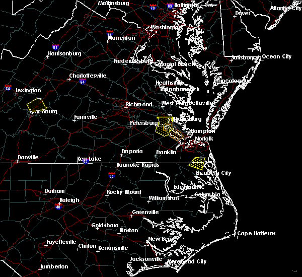 Radar Image for Severe Thunderstorms near Virginia Beach, VA at 8/15/2019 5:36 PM EDT