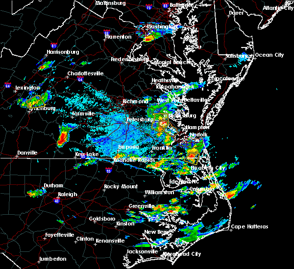 Radar Image for Severe Thunderstorms near Newport News, VA at 8/15/2019 5:36 PM EDT
