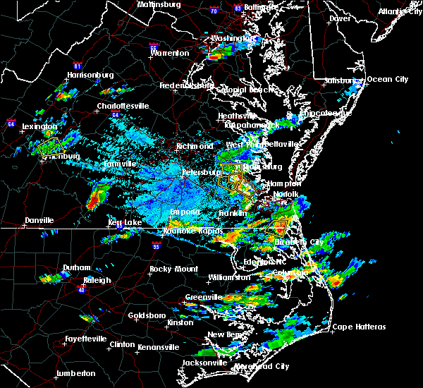 Radar Image for Severe Thunderstorms near Virginia Beach, VA at 8/15/2019 5:48 PM EDT