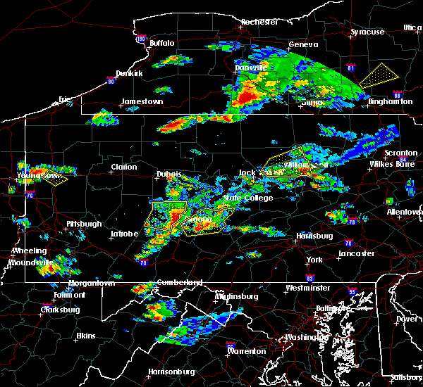 Radar Image for Severe Thunderstorms near Ulysses, PA at 8/15/2019 5:57 PM EDT