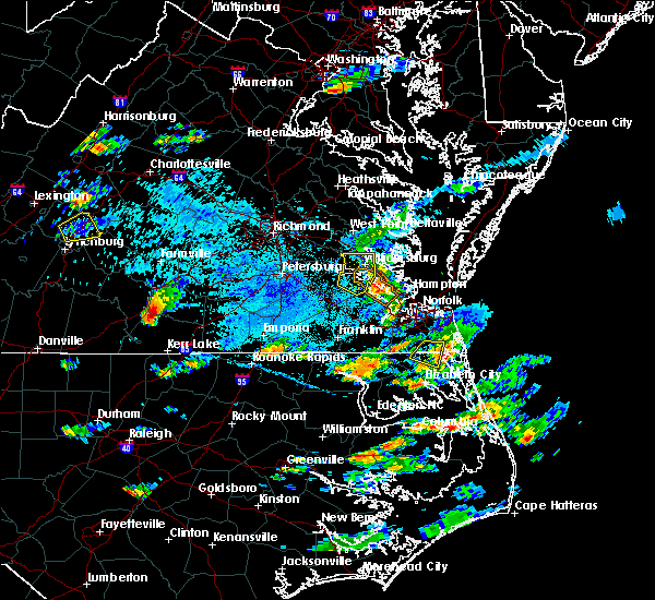 Radar Image for Severe Thunderstorms near Virginia Beach, VA at 8/15/2019 5:58 PM EDT
