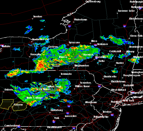 Radar Image for Severe Thunderstorms near Addison, NY at 8/15/2019 6:33 PM EDT