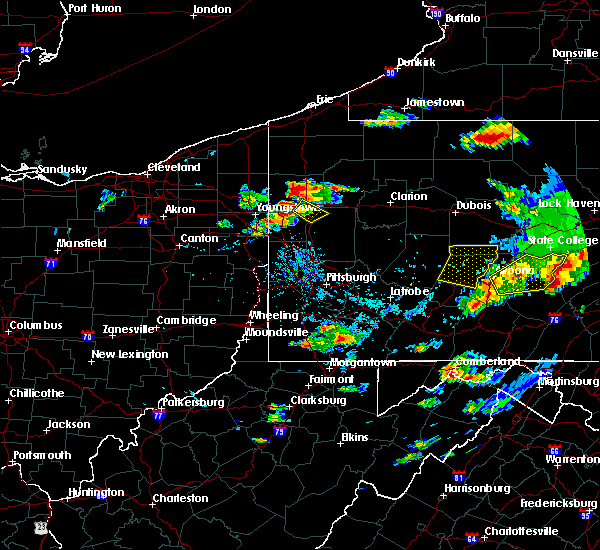 Radar Image for Severe Thunderstorms near Clark, PA at 8/15/2019 6:35 PM EDT