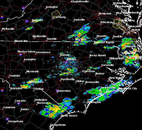 Radar Image for Severe Thunderstorms near Bracey, VA at 8/15/2019 6:40 PM EDT