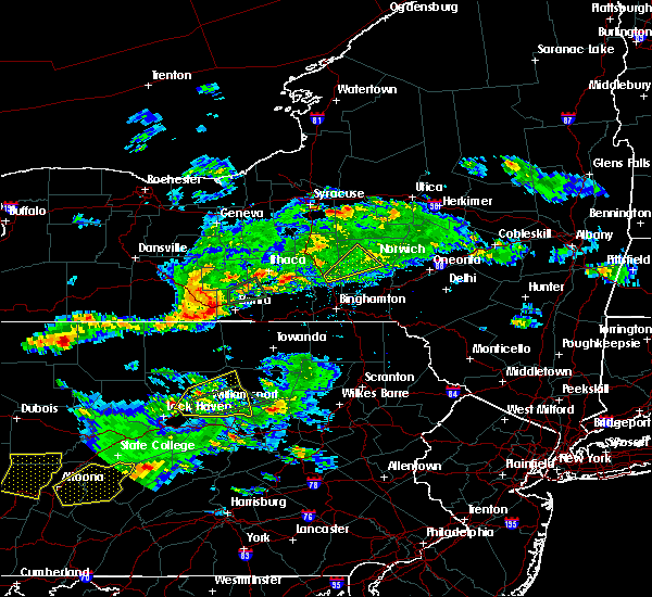 Radar Image for Severe Thunderstorms near Waverly, NY at 8/15/2019 6:50 PM EDT