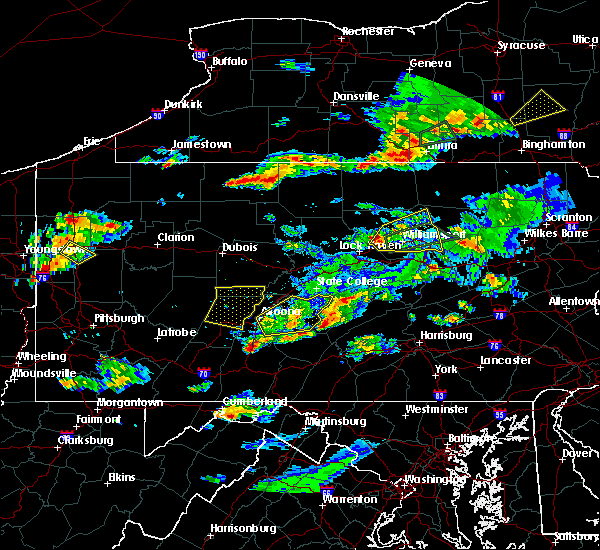 Radar Image for Severe Thunderstorms near Roulette, PA at 8/15/2019 6:54 PM EDT