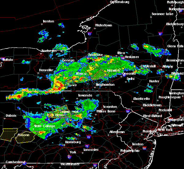 Radar Image for Severe Thunderstorms near Elmira Heights, NY at 8/15/2019 6:58 PM EDT