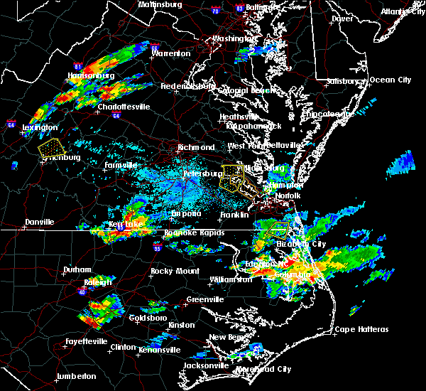 Radar Image for Severe Thunderstorms near South Hill, VA at 8/15/2019 6:59 PM EDT