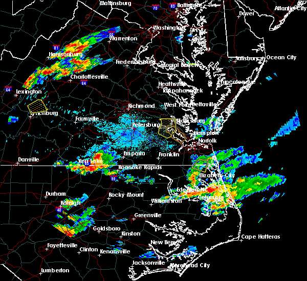 Radar Image for Severe Thunderstorms near South Hill, VA at 8/15/2019 7:14 PM EDT