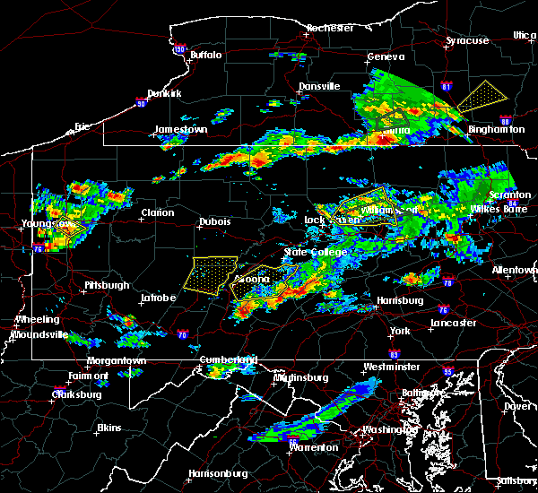 Radar Image for Severe Thunderstorms near Cassville, PA at 8/15/2019 7:25 PM EDT