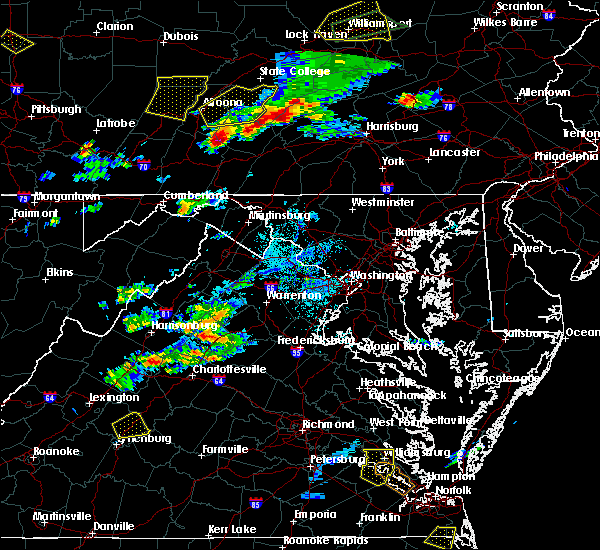 Radar Image for Severe Thunderstorms near Shenandoah, VA at 8/15/2019 7:26 PM EDT