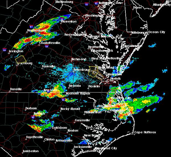 Radar Image for Severe Thunderstorms near Bracey, VA at 8/15/2019 7:29 PM EDT