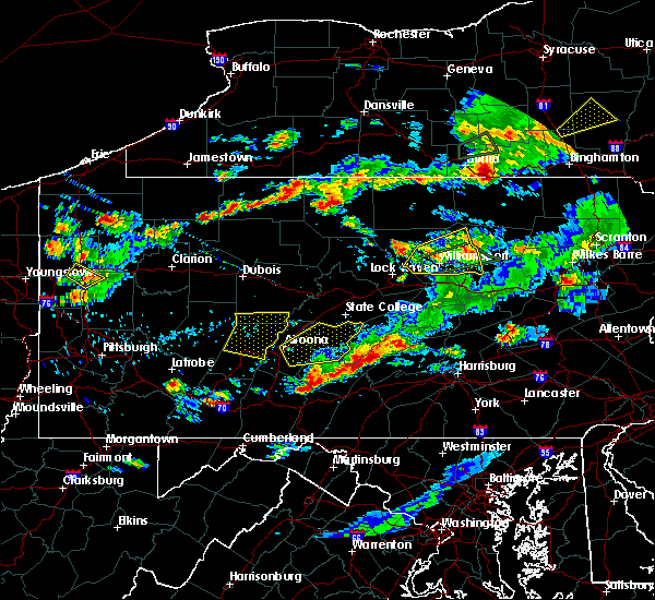 Radar Image for Severe Thunderstorms near Roulette, PA at 8/15/2019 7:41 PM EDT