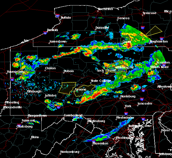 Radar Image for Severe Thunderstorms near Longfellow, PA at 8/15/2019 7:47 PM EDT