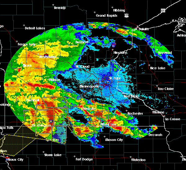 Radar Image for Severe Thunderstorms near Clements, MN at 6/22/2015 5:51 AM CDT