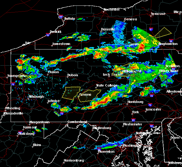 Radar Image for Severe Thunderstorms near Saltillo, PA at 8/15/2019 8:05 PM EDT