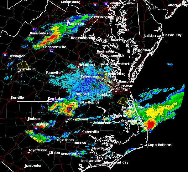 Radar Image for Severe Thunderstorms near Halifax, NC at 8/15/2019 8:18 PM EDT