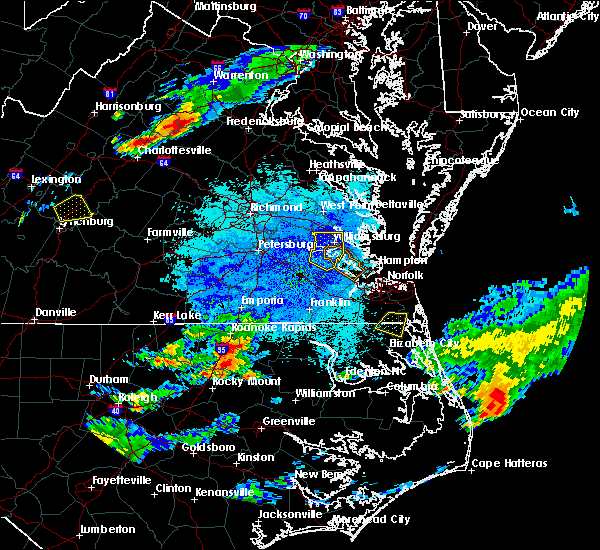 Radar Image for Severe Thunderstorms near Halifax, NC at 8/15/2019 8:39 PM EDT