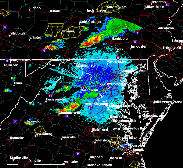 Radar Image for Severe Thunderstorms near Orange, VA at 8/15/2019 9:00 PM EDT